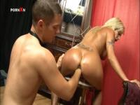 Heated gal with torn and tortured pussy
