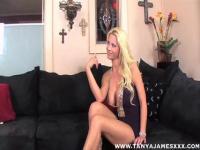 Blonde whore enjoys large shaft