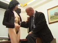 Italian mature whore fucks her boss