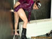 The glory hole is magic for this girl