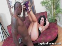 Jayden Jaymes tastes black cock now and never more