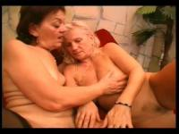 Two hot grannies are having pussy licking party at home