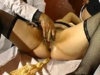 BBW fisted, fucked and toyed by perverse gynecologists