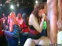 Chubby MILF going deepthroat on a stripper