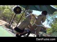 Dani Daniels on the tennis field