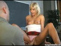 School bombshell Lexy gets anal ripped in class.