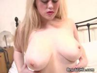 Kinky blondie Brook Little is a tease