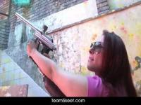 Curvy Latina Evely Contreras banged on the street