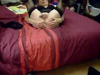 Watch shemale masturbating in bed