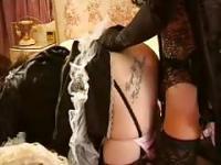 Shemale fucking her maid
