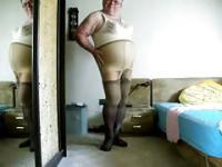 Transvestite undressing