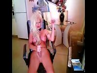 Blonde Shemale Cums Hard