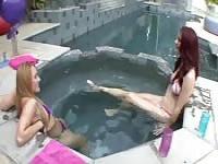 Interesting lesbian bath