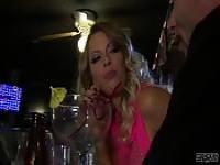 Hot blonde at the bar