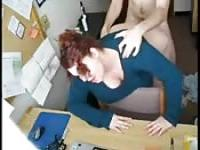 Caught banging the fatty secretary
