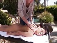 Massaged before being fucked