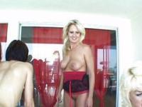 Big mature strap-on orgy