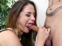 Elegant woman and her lad lick and suck their private parts