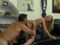 Astonishing blonde coquette with big boobs drilled by her lover