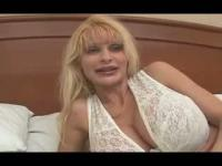 Big tittied blonde MILF sucks and fucks like a freak