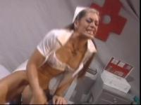 Nurse Aria getting drilled coarse and squirts