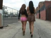 two latinas public sex