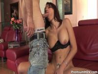 Layla Rivera drinks massive jism load