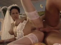 Brides double fucked by their lustful partners