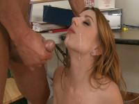 Office assistant fucking and taking facial cumshot