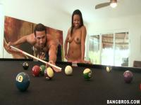 Playing billiards with dirty bitch Melody Nakai