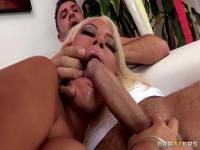 Double penetration action for horny Bridgette