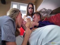 Bill Bailey relaxes with Brandi Love & Riley Reid