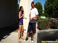 Cute Amateur Brunette Teen Gets Paid To Suck And Fuck