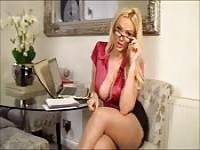 Horny blonde boss lady