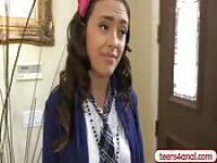 Virgin teen opens her backdoor for cock