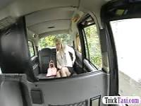 Blonde pounded in backseat of london cab