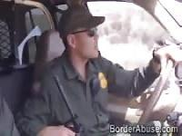 Slim stripper fucks border officer