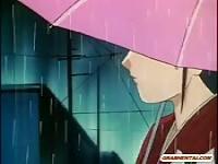 Hentai Mädchen ruft lecken und Dildo schob