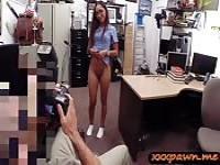 Desperate girl fucked in the backroom