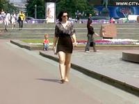 Ukrainian Girl Barefoot  )