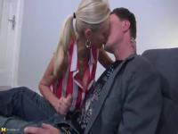 Mature German woman fucks her nephew