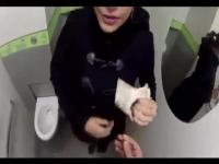 Fucking in a public toilet