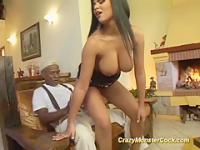 A busty brazilian Milf gets her first anal ###