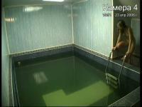 Voyeur girl in the pool