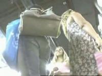 Alluring voyeur upskirt thong video