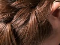 Japanese teen brunette downblouse vid