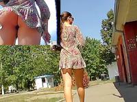 Short summer suit upskirt movie movie scene