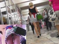 Spying non-professional females legs upskirts