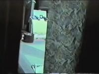 Amateur fem spied masturbating on the floor thru window