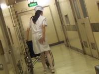 Nurse with wheelchair got her bottom sharked from behind